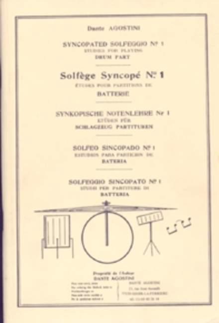 Solfege Syncope 1 Agostini, Dante Méthode Schlagzeug 9790707005088-afficher Le Titre D'origine Acheter Un Donner Un